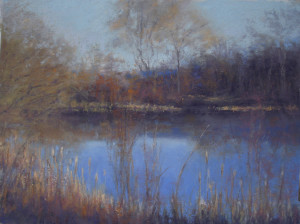 Winter's Blues pastel Of Time and the River